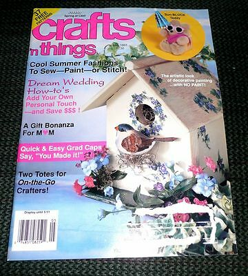 Crafts n Things Magazine May 1993 Spring / Wedding / Graduation Crafts & more