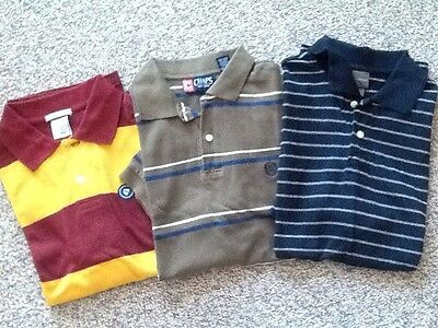 LOT OF 3 MENS POLO SHIRTS OLD NAVY MERONA CHAPS SIZE SMALL PRE-OWNED