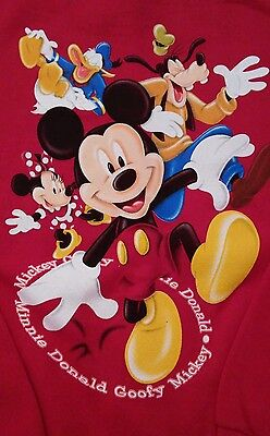 NWOT Disney Mickey Mouse/Goofy/Donald Duck/Minnie Mouse Sweatshirt L 10/12