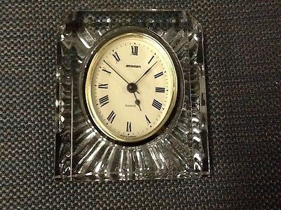Vintage Staiger Quartz Germany dArques France Art Glass Crystal Clock