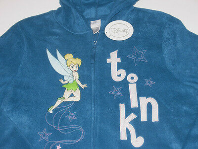 Tinkerbell Full Zip Fleece Hoodie, size Small, New w/Tag!