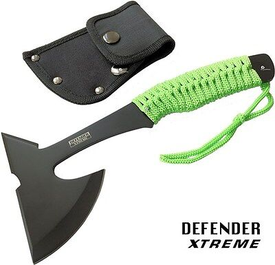 "9"" ZOMBIE SURVIVAL TOMAHAWK THROWING AXE BATTLE Hatchet knife hunting FULL TANG"