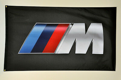 M Power BMW banner flag HIGH QUALITY MINT 3'x5' 1-sided Grommets 1M M3 M5 M6