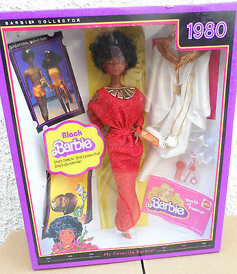 2008 MY FAVORITE **1980 BLACK BARBIE REPRODUCTION ** NRFB