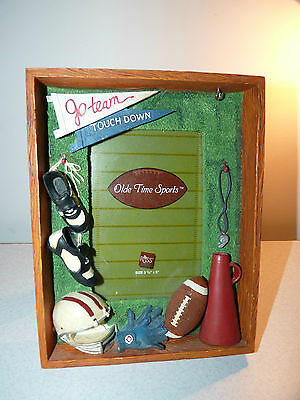 FUN!! 3.5 x 5 FOOTBALL Themed Picture/Photo Frame 7.5 in x 5.75 in overall NFL