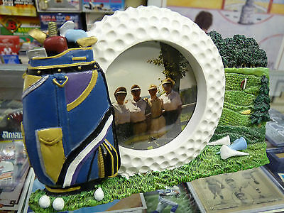Fun 3inch round GOLF Picture/Photo Frame 7.5 in x 5 in overall AWESOME GOLF FUN!