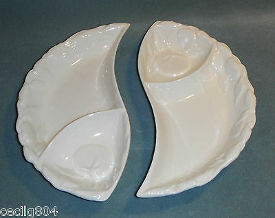 BELMAR OF CALIFORNIA POTTERY  #406  YING YANG SERVING DISHES CHIP AND DIP