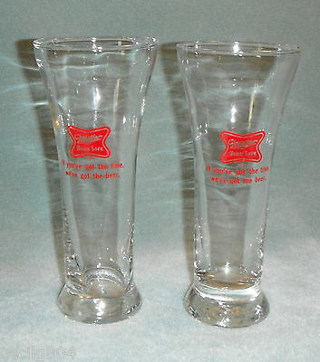 VINTAGE MILLER HIGH LIFE PILSNER GLASSES SET OF 2