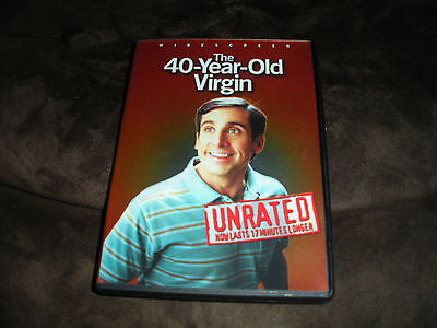 The 40-Year-Old Virgin (DVD, 2005, Widescreen; Unrated)