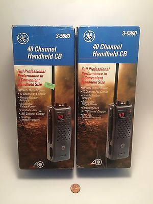 Vintage CB Radio GE 40 Channel Handheld  3-5980 Lot Of 2 NOS! General Electric