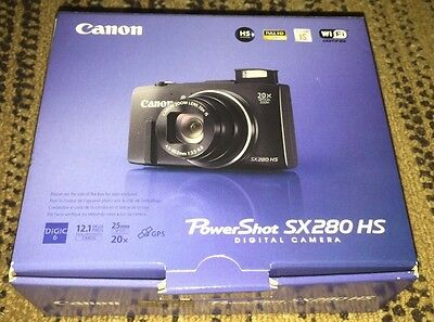 New CANON PowerShot SX280 HS 12MP Digital Camera black power shot sx280hx sx 280