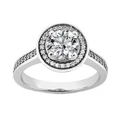 Lady's 1.85 ct. TW Round Cut Diamond Accented Engagement Ring in Platinum