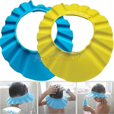 NEW Safe Shampoo Shower Bathing Protect Soft Cap Hat for Baby Children 2 Colors