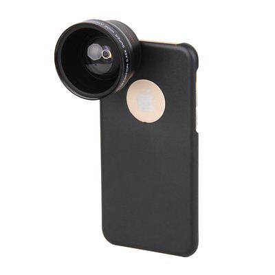 NEW Pro 37 mm 0.45X HD Wide Angle Macro Camera lens + Case Kit For iPhone 6 4.7""
