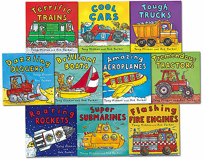 Amazing Machines Truckload Children Collection Tony Mitton 10 Books Set Cool Car