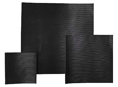 Ribbed Rubber Matting 3Mm Thick Anti Slip Various Sizes