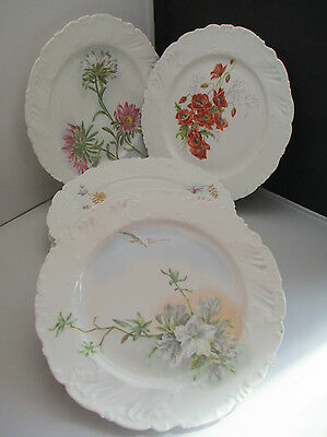 """COUVENT SAINTE BARBE FRENCH 1897 PORCELAIN HAND PAINTED FLORAL 5 x 8.5"""" PLATE"""