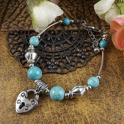 NEW Free shipping Tibet silver Pendant jade turquoise bead DIY bracelet S281D