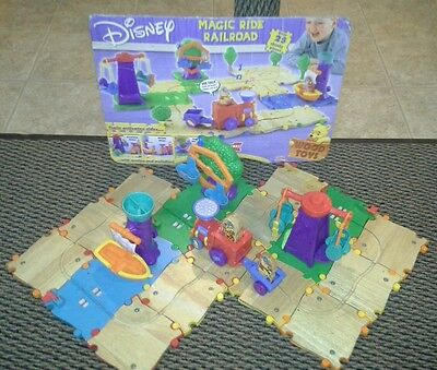 Disney Magic Ride Wooden Talking Railroad With Rides, Winnie The Pooh & Friends