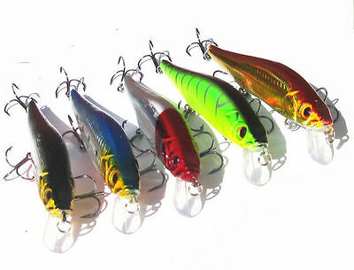 A+ 1pc New cute 14cm /23g Plastic Minnow Fishing Lures Bass CrankBait Tackle