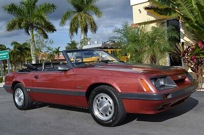Ford : Mustang GT Convertible 1985 ford mustang gt convertible manual 18 k miles leather fully documented