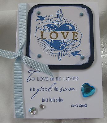 LOVE - Any Occasion - heat embossed - Handmade card