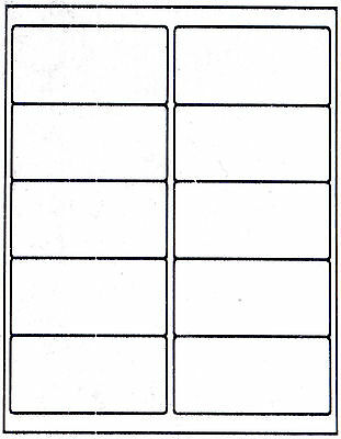 """100 DCC® GENERIC White Self Adhesive Mailing Labels 2 x 4"""" #5163"""