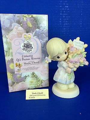 "Precious Moments ""Thanks a Bunch "" #95779/0020 (Original Box) Cracked Egg Mark"