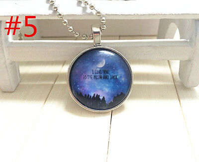 """HOT """"I LOVE YOU TO THE MOON AND BACK"""" Photo Alloy Necklaces & Pendants#246"""