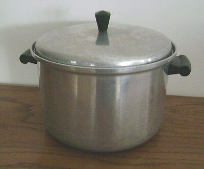 Vintage 6 qt quart MIRRO aluminum CHARM STOCK POT with lid Made in USA Nice