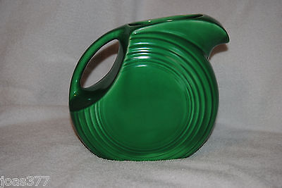 Vintage Green Fiesta Ware Disk Water Pitcher Green