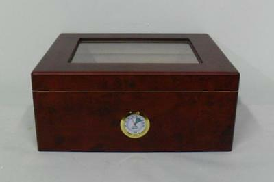 *THE MONACO* 50 CIGAR HUMIDOR  CLEAR TOP  -  BRAND NEW IN BOX