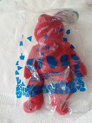 New in Pkg  1999 AVON Full o' Beans BIRTHSTONE FEBRUARY *** CODY THE BEAR