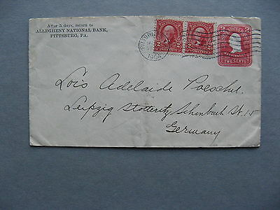 USA, uprated prestamped cover to Germany 1904