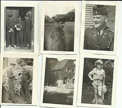 ORIGINAL VINTAGE 1950'S ARMY PHOTO PICTURES LOT MILITARY OFFICERS MEN IN GERMANY