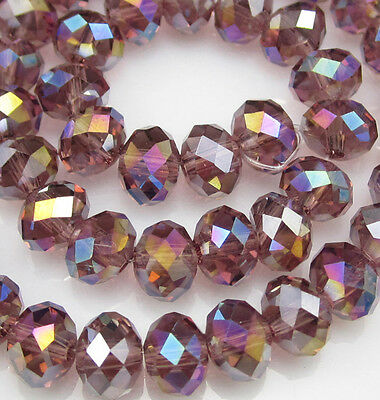 NEW Jewelry Faceted 100pcs Rondelle crystal #5040 3x4mm Beads light purple AB