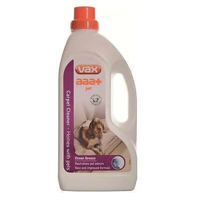 VAX AAA+ Pet Carpet Care Shampoo Cleaner liquid Upholstery Wash 1.5ml