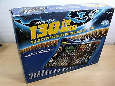 Vintage Radio Shack Science Fair 130 In One Electronic Project Lab 28-259