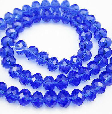 NEW DIY Jewelry Faceted 100pcs Rondelle crystal #5040 3x4mm Beads blue color E78