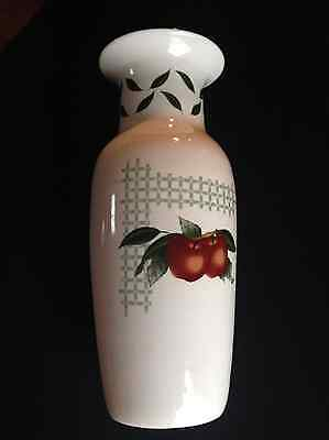 "Cades Creek Genuine Stoneware Large 12"" Vase Apples and Blooms"