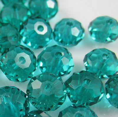 Jewelry Faceted 100pcs Rondelle crystal #5040 3x4mm Beads Peacock Green color 2C