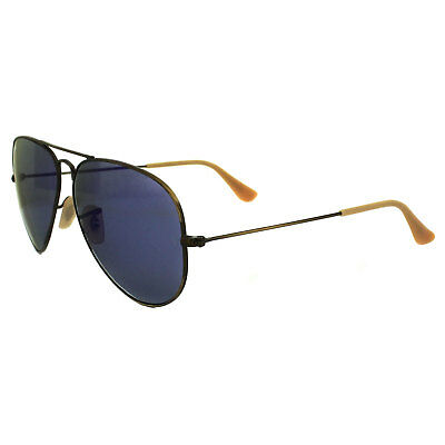 Ray-Ban Sunglasses Aviator 3025 167/68 Brushed Bronze Blue Violet Flash Mirror