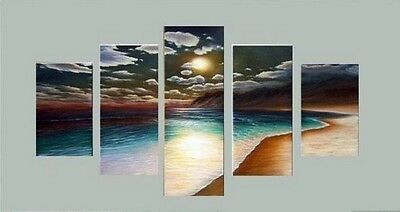 HUGE OIL PAINTING MODERN ABSTRACT WALL DECOR ART CANVAS Sunset B(no framed)