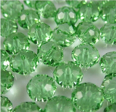 DIY Jewelry Faceted 100pcs Rondelle crystal #5040 3x4mm Beads Grass green NEW 8V
