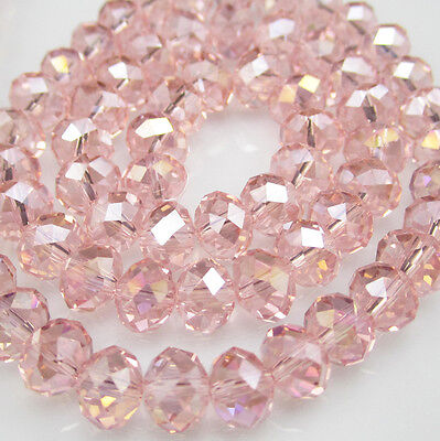DIY Jewelry Faceted 100pcs Rondelle crystal #5040 3x4mm Beads Hot red AB NEW E79