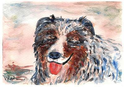 """A527-ORIGINAL WATERCOLOR PAINTING, """"Old Buddy!"""", Gift Idea"""