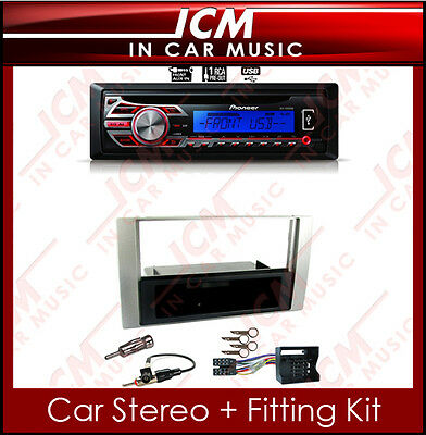 Pioneer MP3 AUX CD USB Player iPod iPhone Stereo & Ford Transit Car Radio Kit