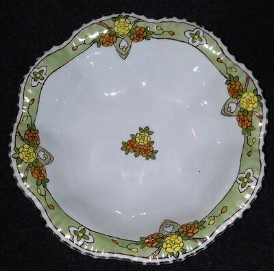 Royal Nippon Studio Hand Painted Bowl - Scallop Design