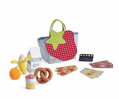AMERICAN GIRL BITTY BABY TWINS GIRL BOY GROCERY FOOD GROCERIES SET TOTE NEW