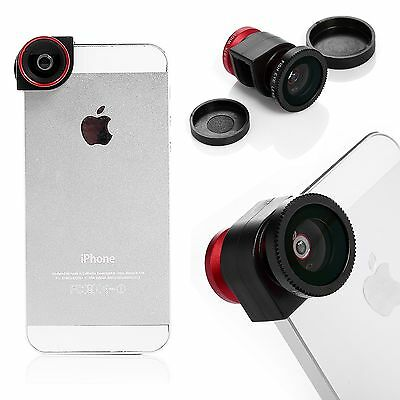 3 in1 180° Fisheye + Wide Angle + Micro photo Lens Kit for Apple iPhone 5 5S